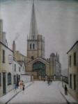 ls lowry Burford church print