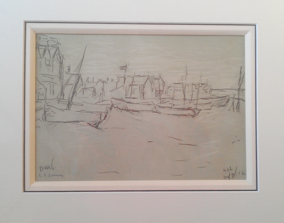 lowry the beach sketch deal signed print lslowry