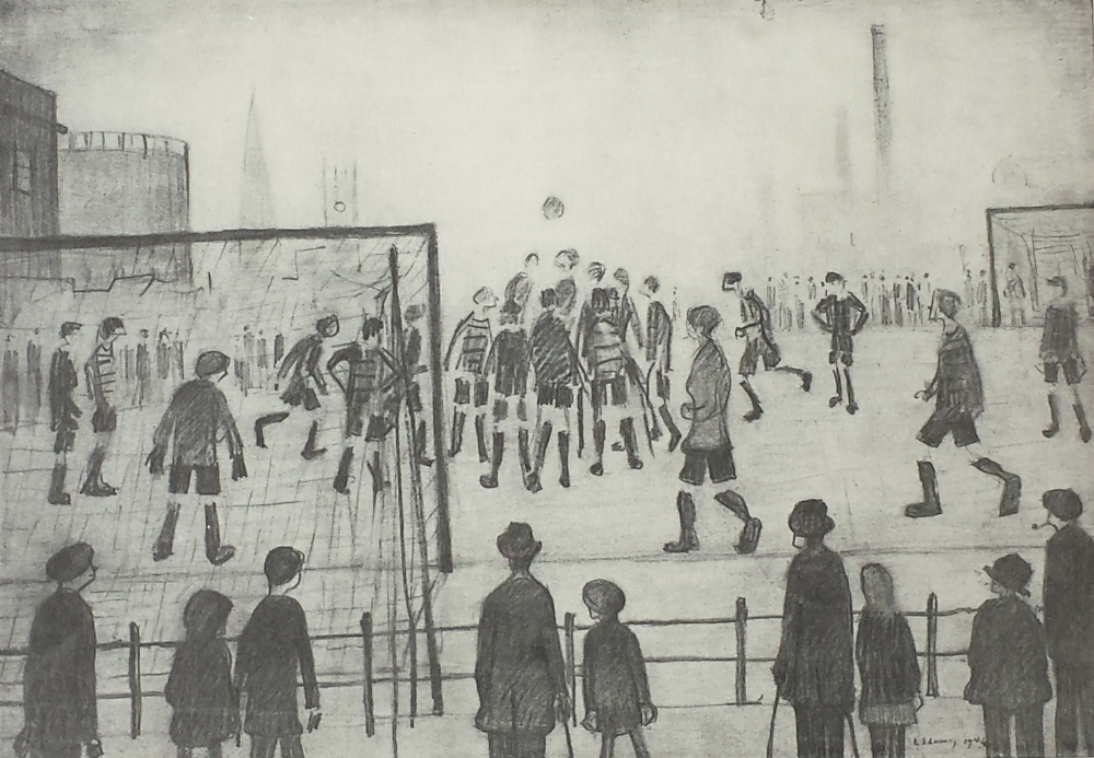 lowry football match print