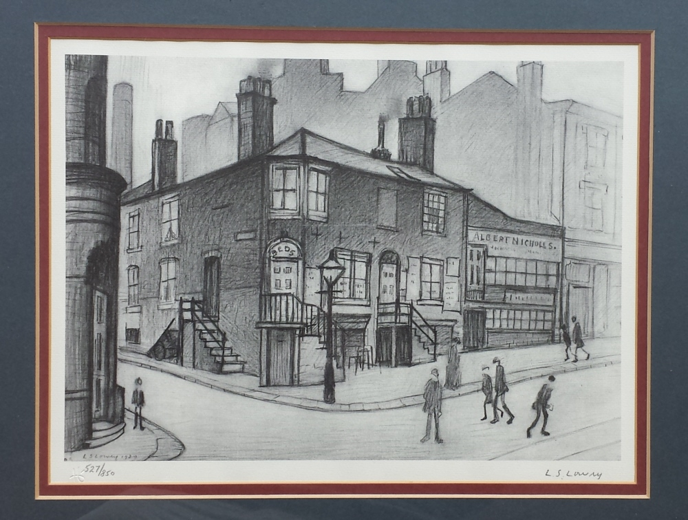 lowry great Ancoats street signed print