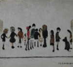 ls lowry group of children print