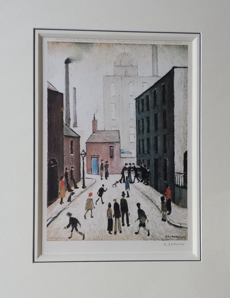 lowry industrial scene signed print