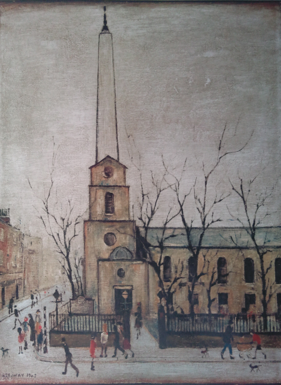 lowry stlukes church london print