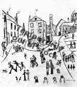 ls lowry three cats Alstow print