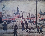 ls lowry view of a town print